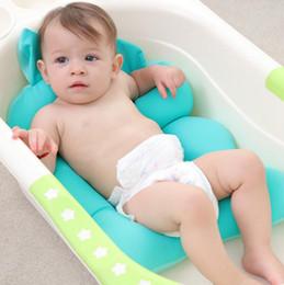 tapetes de tampa deslizante Desconto Recém-nascido Do Bebê Dobrável Banheira Banheira Almofada Cadeira Prateleira Assento Da Banheira Recém-nascidos Apoio Infantil Almofada Mat Non-Slip Tapetes de Banho