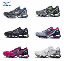 Wholesale shoes wave man - 2018 New Color MIZUNO WAVE PROPHECY 7 NOVA Professional Running Shoes for Men women Sneakers Breathable Mens Sports Designer Trainers Shoes