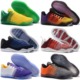 Wholesale Cheap Synthetic Weave - 2017 Top quality Kobe 11 Elite Men's Basketball Shoes for Cheap Sale KB XI FADE TO BLACK MAMBA DAY Weaving Sports Training Sneakers