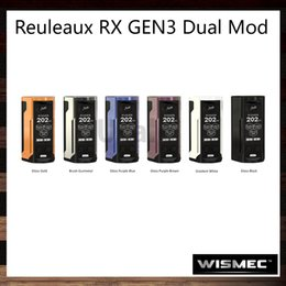 Wholesale Oled Displays - Wismec Reuleaux RX GEN3 Dual Mod 230W TC Mod 1.3-inch OLED Display Dual Circuit Protection Designed by JayBo 100% Original
