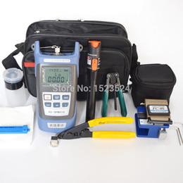 2019 наборы инструментов для волокон 12pcs/set FH Fiber Optic Tool Kit with Fiber Cleaver -70~+10dBm Optical Power Meter Visual Fault Lcator 10mw дешево наборы инструментов для волокон