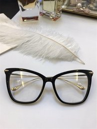 Wholesale making clear plastic - Top quality optical eyewear cat eye charming frame clear lens transparent glasses can make the prescription
