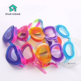 Wholesale Glasses Pattern For Kids - Multi Color Swimming Goggles For Children Kids Sweet Heart Pattern Waterproof Swimming Glasses With Box