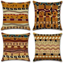Neue Kissenbezug 4 Arten Kissenbezug Heißer Baumwolle African Print Ethnischen Stil Alten Kissenbezug Kissenbezug Home Decor von Fabrikanten