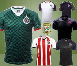 Wholesale Soccer Jersey Pink - 17 18 liga mx chivas Guadalajara pink green soccer jersey 2017 2018 home BRIZUELA chivas football shirt PULIDO LOPEZ Camisa PIZARRO maillot