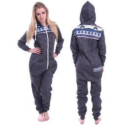 Wholesale Womens Cotton Pajamas - Fashion Mens and Womens Unisex Cosplay Costume Snowflake Print Onesie Hooded Jumpsuit Pajamas