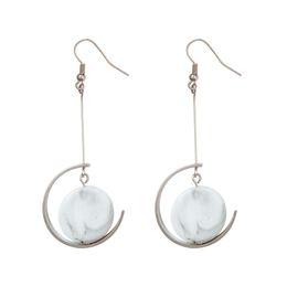 Wholesale fashion circle long earrings - Big Dangle Earrings Trendy Fashion Costume Jewelry Irregular Semi-circle Dangler Long Drop Earrings Bijoux Femme 2018