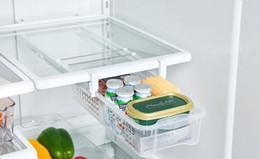 2019 cajas de almacenamiento de refrigerador Caja de almacenamiento del refrigerador del refrigerador del hogar del ambiente Organizador del refrigerador Huevo de almacenamiento de fruta Frute saca el cajón para ahorrar espacio cajas de almacenamiento de refrigerador baratos