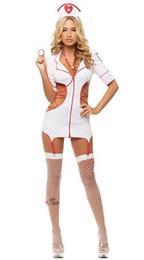 Uniforme de enfermeras de halloween online-Envío Gratis Nueva ropa interior sexy cosplay Halloween Enfermera Lore Perspectiva Uniforme Set Juego Cosplay Traje Tentación Uniforme