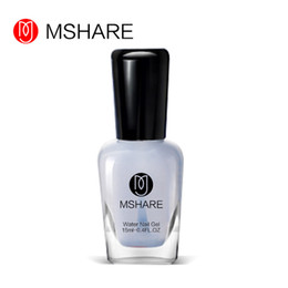 Wholesale Bright Art - Wholesale- MSHARE 15ML Water Nail Gel Polish Gel Lacquer DIY Nail Art Manicure Health Material Color Bright Oil Transparent