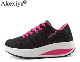 Akexiya 2018 Hot Sale Women Sport Running Shoes Breathable Thick Bottom Ladies Wedges Running Outdoor Sneakers Big Size 41 42 от