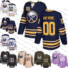 bf6aa9960 Custom Buffalo Sabres men women youth 26 Rasmus Dahlin 9 Jack Eichel  Customized Royal Blue navy White green purple Hockey Jersey Stitched