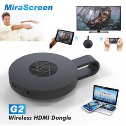 2019 handytastatur zubehör MiraScreen G2 Wireless HDMI Dongle TV-Stick 2,4 G WiFi 128 MB RAM DDR3 1080 P Miracast Für TV-Projektor Unterstützung Airplay DLNA Cloud + B