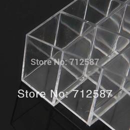 2019 bague en plastique en chine Wholesale-Fress shipping Clear Acrylic 24 Support de rouge à lèvres Présentoir Cosmétique Organisateur Maquillage Cas # 9014