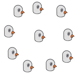 Costumi da piccione online-10PCS Pigeon Head Patches Hot Melt Adhesive Garment for Stripe Sewing Embroidered Costume Patches for Kids Clothing Iron on Patch DIY Craft