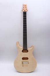 Guitarra elétrica corpo inacabado on-line-Guitarra elétrica Kit Acessórios Guitar Pescoço Corpo 22 Fret Unfinished Porca de Bloqueio