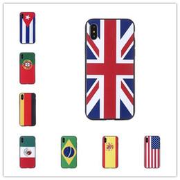 étuis drapeau iphone Promotion 2018 Chaude Créative Coupe du Monde de Haute Qualité Drapeau National Iphone Cas Cas de Téléphone Mobile Relief Relief Case Iphone 6 7 8 X MPS2