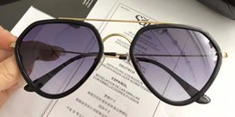 Wholesale Mirror Letters - Luxury 3229 Sunglasses For Women Popular Oval Letters Frame Design Avant-garde Frame Built-In Circular Lens Top Quality Come With Case