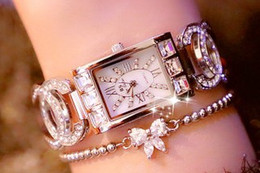 relógios de senhora Desconto 2018 New Arrival Mulheres Relógios! Cristal austríaco cheio de strass relógios de luxo mulheres vestido de relógio! Moda Diamante Relógios De Pulso Relógios Horas
