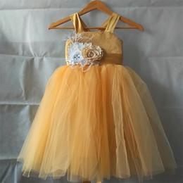 2019 gonna piccola cintura Vestiti nuovissimi della ragazza di fiore reale con il vestito da comunione del partito di spettacolo del vestito dal ballo del fiore per il piccolo vestito dai bambini / bambini per nozze