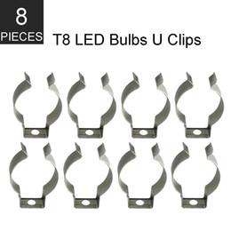 Led-röhren-steckdosen online-Lager In US + 8pcs T8 führte Rohr Licht U Clips Tube Lampensockel Halter T8 Leuchtstofflampe Metall Socket Bracket Connector