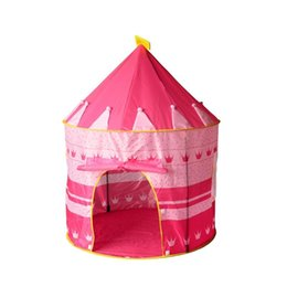 Wholesale Pop Up House - Pop Up Play Tent Kids Girl Princess Castle Outdoor House Tent Portable Pink Children Gifts Children's mosquito nets