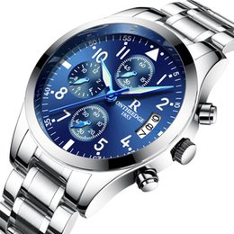 Wholesale Top Waterproof Mechanical Watches - Luxury Men Automatic Watch Designer Top Brand Chronograph Waterproof Movement Sports Male Business Wristwatch Multi-Function Watches Box