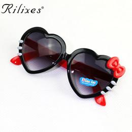 дизайнер в форме сердца солнцезащитные очки Скидка Дети RILIXES детские солнцезащитные очки Мода милый в форме сердца солнечные очки UV400 дизайнер рама очки девочки очки