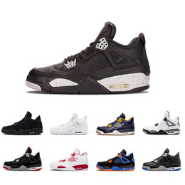 sports fire Promo Codes - 2018 Newest 4 4s men Basketball Shoes Pure Money Premium Black Cat white cement Bred Fire red Fear Alternate sports shoes sneakers