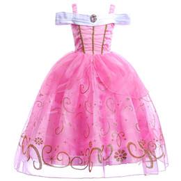 Argentina 3-12Y Navidad rosa Niños Princesa Aurora Vestido Niños Niñas Sueño Belleza Cospaly vestido largo Disfraces de Fiesta vestido Suministro