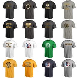 encomendar camisetas por atacado Desconto Mens Boston Bruins Vitória Arch Hockey T-Shirt Preto Cinza Ouro Marinha Branco Nenhum Nome Nenhum Número Jerseys Ordem Mix Atacado Transporte Rápido