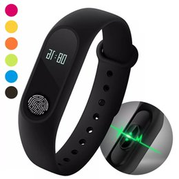 Wholesale Heart Rate Monitor For Android - M2 Silicone Smart Bracelets Bluetooth Smartwatches Heart Rate Monitor Smart Watches Wristband Watch Fitbit For Xiaomi IPhone Android watch