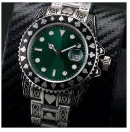 Wholesale relief glass - Asia Eta 2831 movement Embossed pattern relief watch green dial Automatic sweep mens sapphire glass Luminous Watches