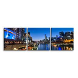 Ver imagens on-line-3 peças de alta-definição impressão night view canvas prints pintura poster e wall art sala de estar imagem CSYJ3-008