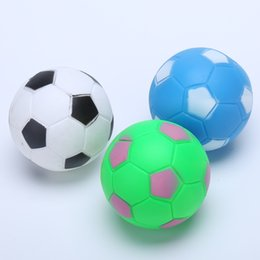Wholesale Football Dogs - Pet Toy Durable Football Shape Small Ball Dog Sound Training Chewing Squeaky Toys Multi Color wen5811