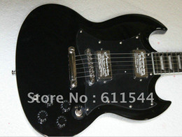 Wholesale Mahogany Ship Models - Wholesale New Arrival Black SG Model Electric Guitar High Quality Free Shipping Best Selling