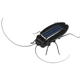 Wholesale Power Toys For Kids - Wholesale- New Funny Jokes Solar Power Cockroach Insect Bug Teaching Toy Gift Baby Kids Plastic Insect Solar For Childred Toys