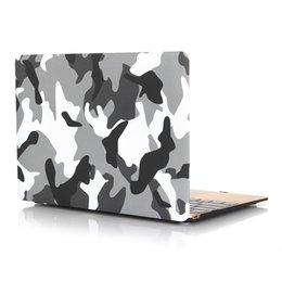 Wholesale Keyboard Covers Macbook Air - 2 in 1 Macbook Protect Case Distinctive Camouflage Printing Plastic Hard Cover for Apple MacBook Air 12 inch Case +Keyboard Cover