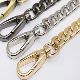 Manijas de bolsa de cadena online-120 cm Cadena de metal para los bolsos de la correa de hombro Cadenas del bolso de bricolaje Hardware de la correa para los bolsos Correas Asas Bolsa de accesorios de las piezas del bolso