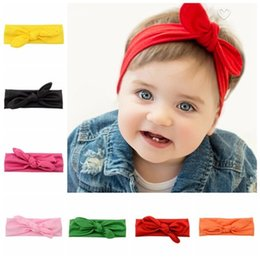 Wholesale hair styles photos - 8pcs New Headband Knot Tie Headwrap Kids Hairband Turban Photo Prop stretchy Girls Hair Accessories Summer Style FD589