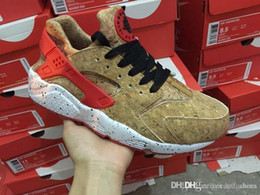 Wholesale Cork Flats - 2017 Air Huarache Shoes Women And Mens Cork Huaraches Ultra Running Shoes Red White Camo Huaraches Sneakers Size 36-45