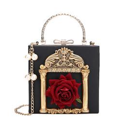 fd14499d18c3 2018 Vintage Embossed Women Handbag Luxury Brand Pearl Chain Box Bag Female  Pu Leather Shoulder Bag Diamonds Evening Bags Ladies