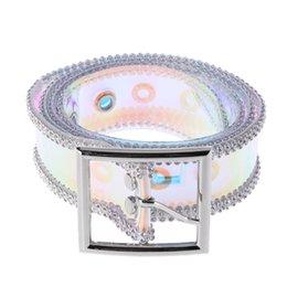 Hebilla cuadrada de plata cinturón de cintura de diamantes de imitación elástico mujeres Corsé transparente Nuevo desde fabricantes
