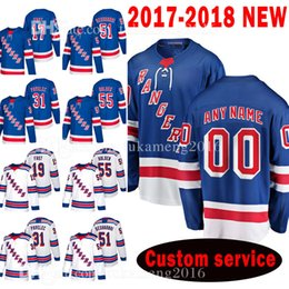 Wholesale Fast Custom - New York Rangers Custom 2018 New 117 Jesper Fast 51 David Desharnais Jersey 31 Ondrej Pavelec 55 Nick Holden 19 Jesper Fast Jerseys