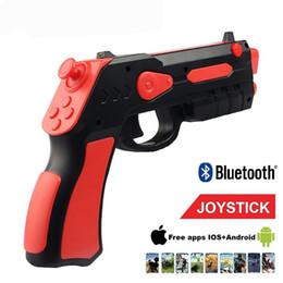 AR Şok Gun Joystick Gamepad Kablosuz Bluetooth Oyun Denetleyicisi Artırılmış Gerçeklik Oyuncaklar iPhone Samsung Android Için Tüm Telefon Retailpackage nereden