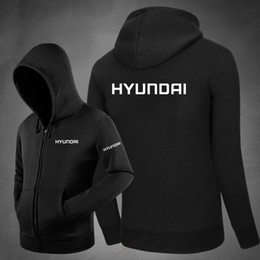 Wholesale hyundai s - male men's hyundai letter Sweatshirts Knitted Pullover Zipper Long Sleeve coats