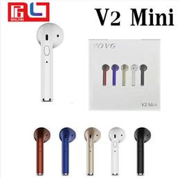 Wholesale Mini V2 - V2 Mini bluetooth Earphone Wireless Headset Earbud In-Ear Earphone Earpiece for Apple iPhone X 8 7 plus Xiaomi earphone