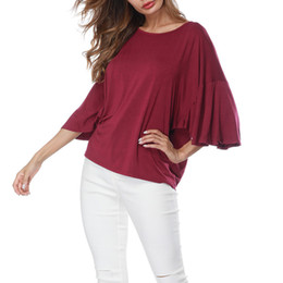 7ec6f8e35aa Summer Tops For Womens Tops and Blouses 2018 Streetwear Flare Sleeve Shirts  Feminina Half Sleeve Blouse Tunic Ladies Top Clothes