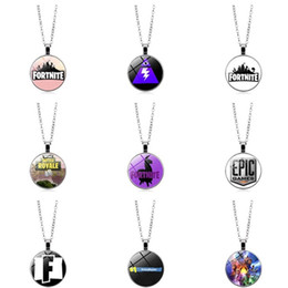 Wholesale around circle - The latest hot selling ps4 game around Fortnite Fortress Night Necklace Time Gemstone Necklace Pendant Jewelry Pendant T6C009