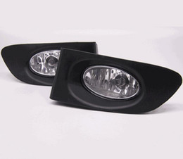 Faróis de nevoeiro dianteiros on-line-Luzes de nevoeiro do carro para Honda JAZZ / FIT 2003-2007 Lâmpada de halogéneo claro: H11-12V 55W Luzes de nevoeiro dianteiro Bumper Bumper Lamps Kit